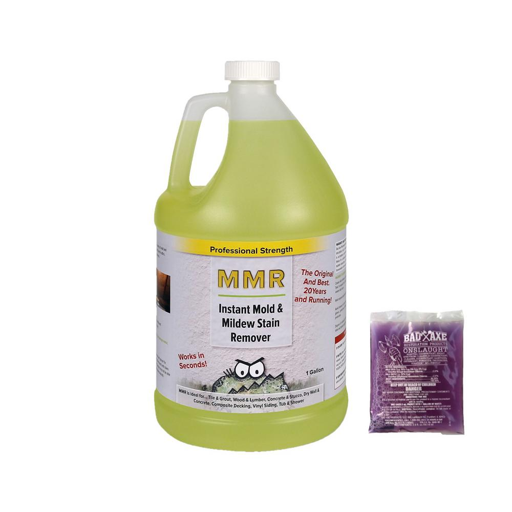 MMR Pro 1-gal. Instant Mold/Mildew Stain Remover & 2 oz. Concentrate (Makes 1-gal each) Mold/Mildew Disinfectant