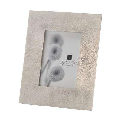 Silver Cement 1-Opening 5 in. x 7 in. Aluminum With Nickel Plating Picture Frame