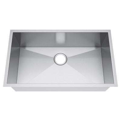 All-in-One Undermount Stainless Steel 33 in. Single Bowl Kitchen Sink