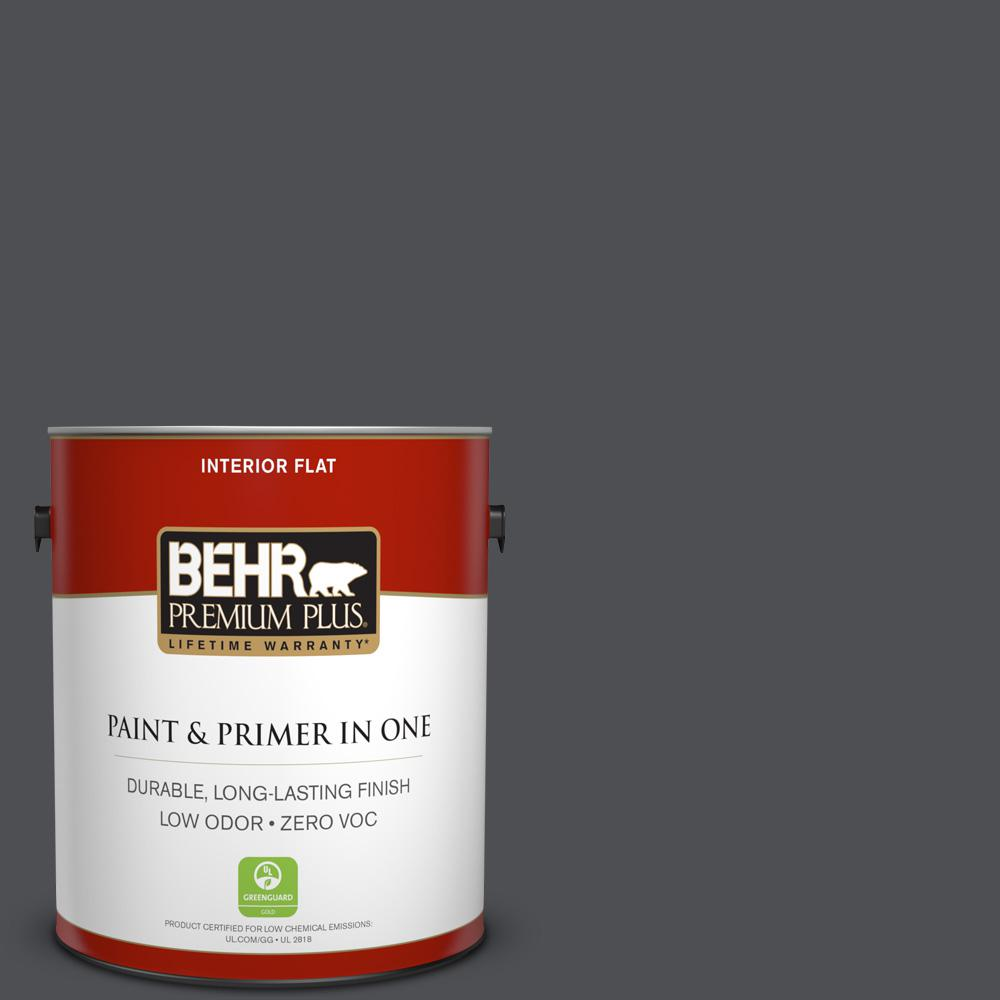 1 gal. #PPU18-01 Cracked Pepper Zero VOC Flat Interior Paint