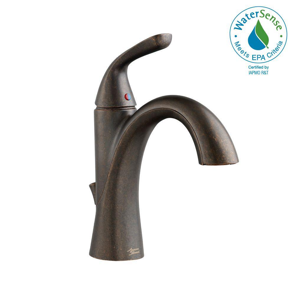 Fluent Single Hole Single-Handle Bathroom Faucet in Oil Rubbed Bronze