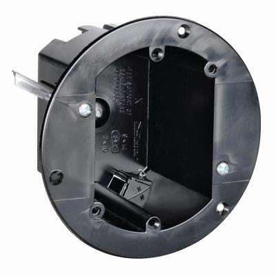 Slater Old Work Plastic 1-Gang 3-3/4 in. Round Swing Bracket Box with Auto/Clamps