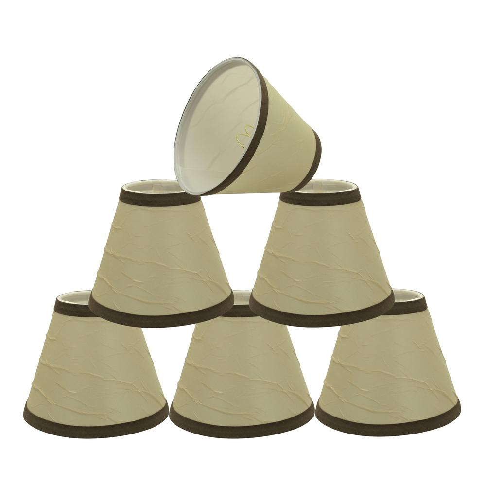 6 in. x 5 in. Beige Hardback Empire Lamp Shade (6-Pack)