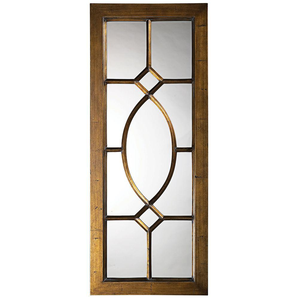 null 53 in. x 21 in. Traditional Framed Mirror