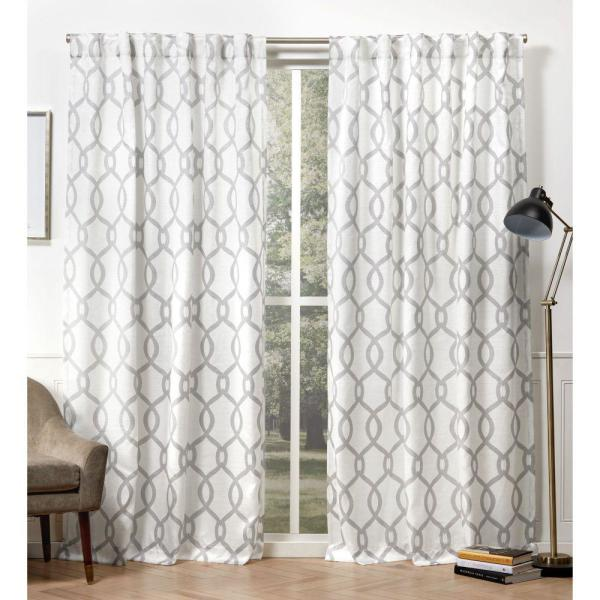 Exclusive Home Curtains Kochi Dove Grey Room Darkening Hidden Tab Top Curtain Panel 54 In W X 108 In L 2 Panel Eh8409 02 2 108h The Home Depot