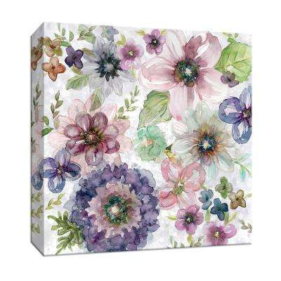 15 in. x 15 in. ''Plum Garden'' By PTM Images Canvas Wall Art