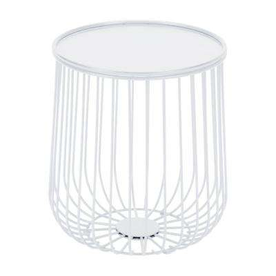 Gilbert White Metal Outdoor Side Table