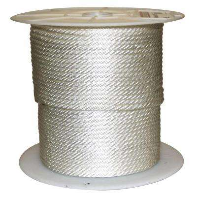 5/16 in. x 600 ft. Solid Braided Nylon Rope White