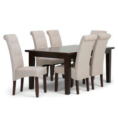 Cosmopolitan 7 Piece Natural Dining Set