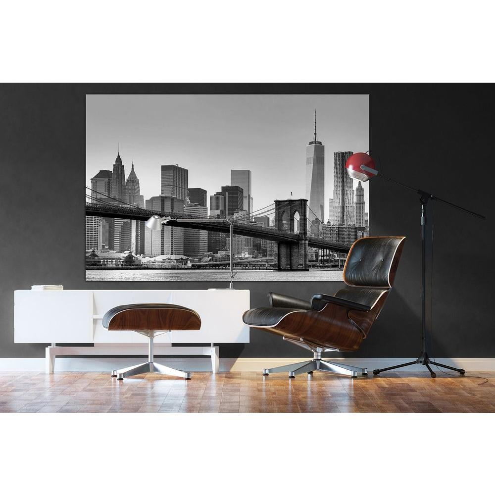 Ideal Decor 69 In H X 45 In W New York Wall Mural Dm622 The Home