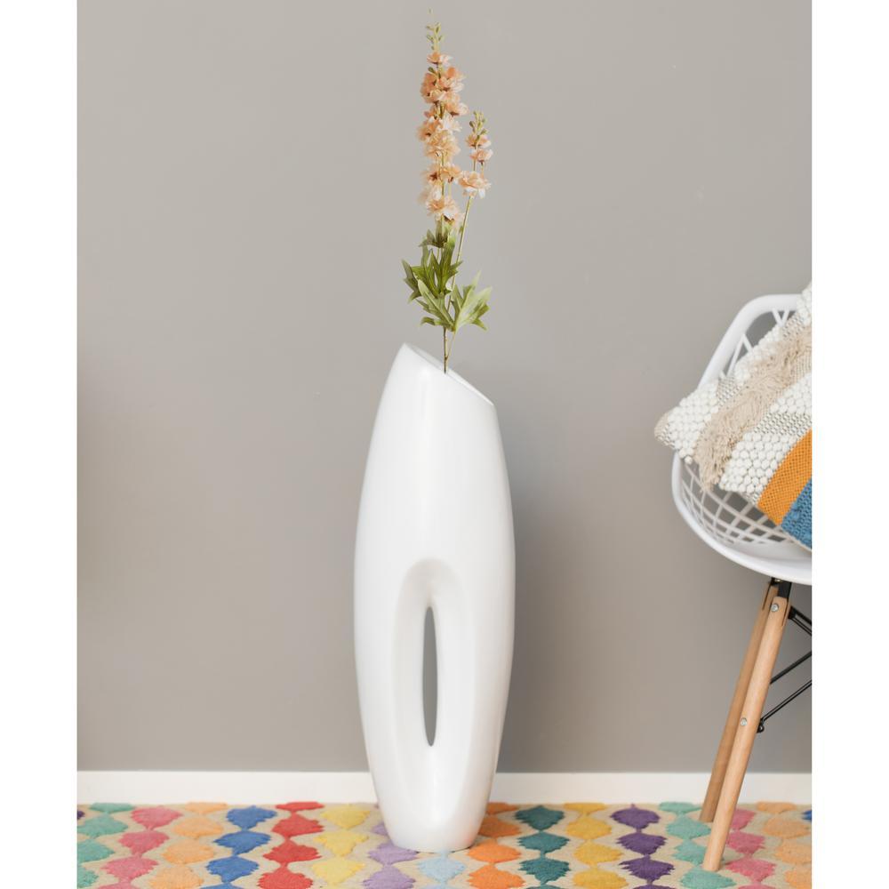 Modern White Large Floor Vase