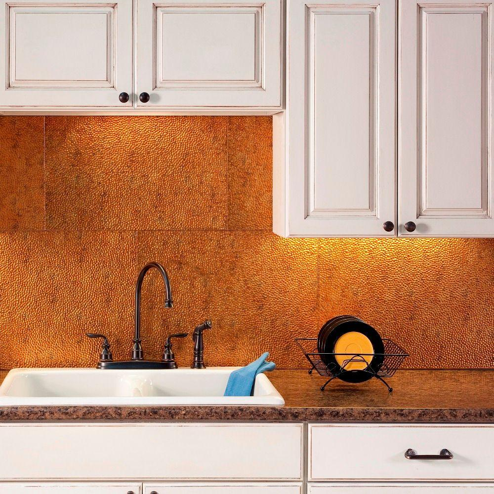 Backsplash Panels: Fasade 24 In. X 18 In. Traditional 4 PVC Decorative