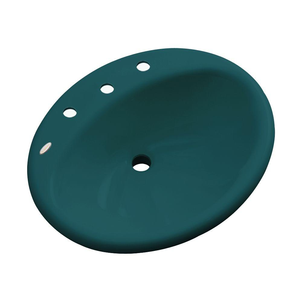 Oceana Designer Drop-In Bathroom Sink in Teal