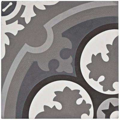 Cemento Queen Mary Storm Encaustic 7-7/8 in. x 7-7/8 in. Cement Handmade Floor and Wall Tile