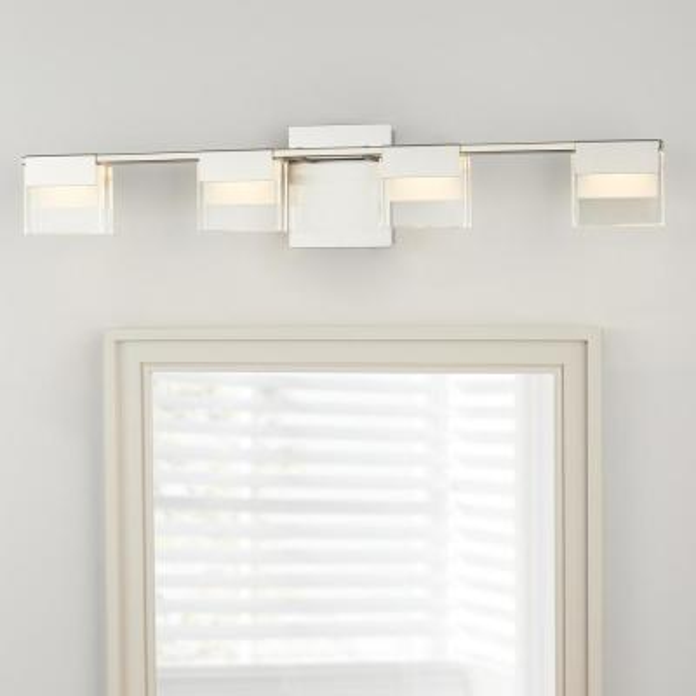 VICINO 100-Watt Matte Nickel Integrated LED Bath Light