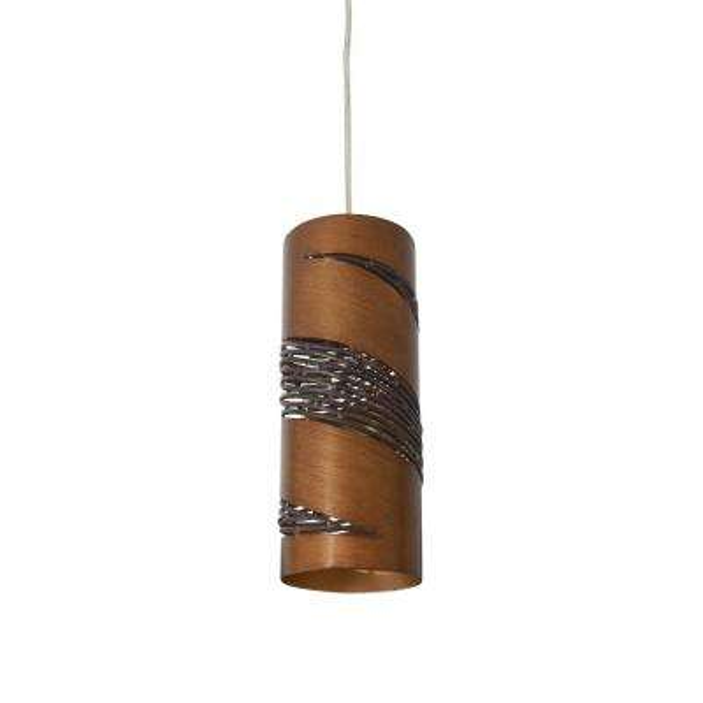 Flow 1-Light Hammered Ore Cylinder Mini Pendant