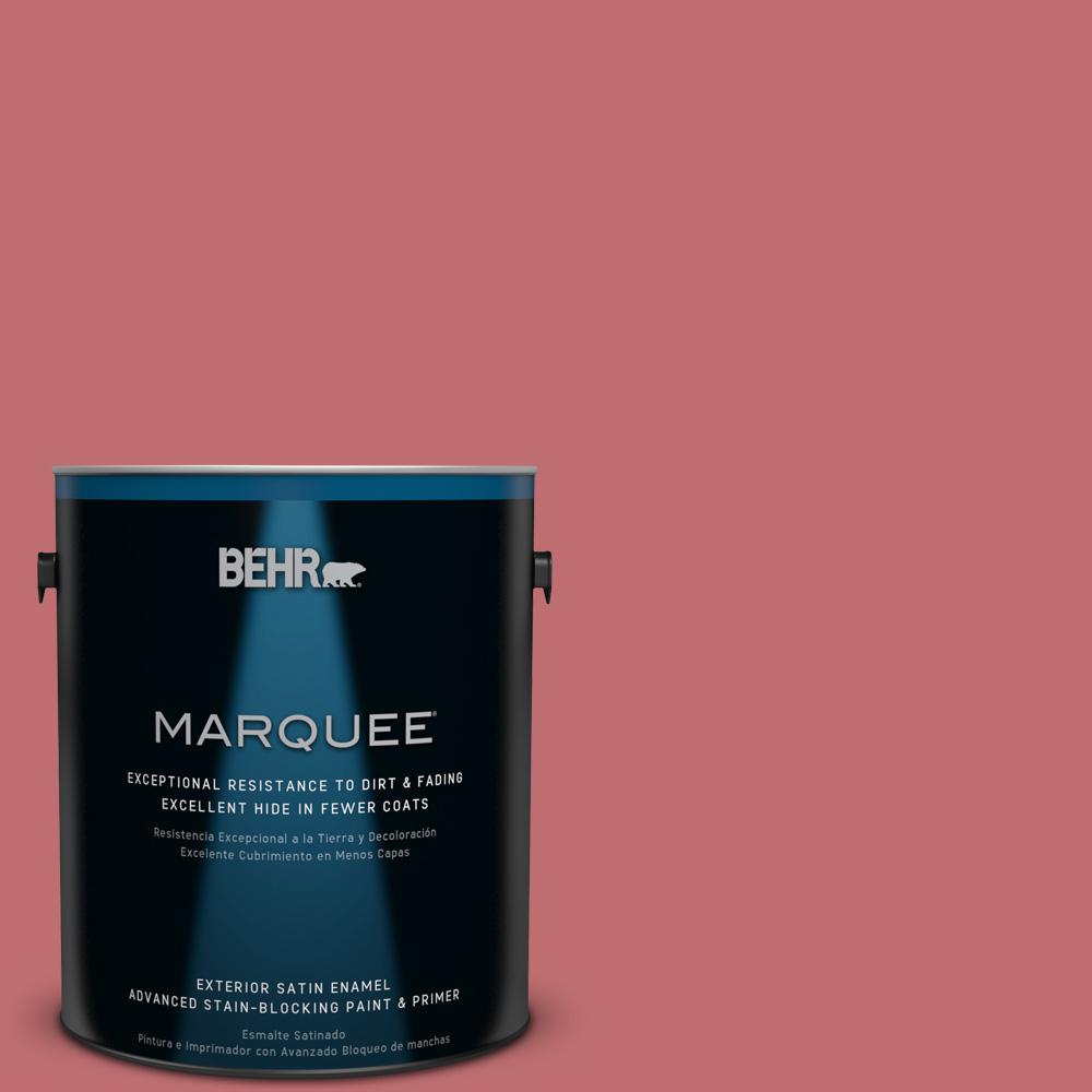BEHR MARQUEE 1-gal. #HDC-SP14-8 Art House Pink Satin Enamel Exterior Paint