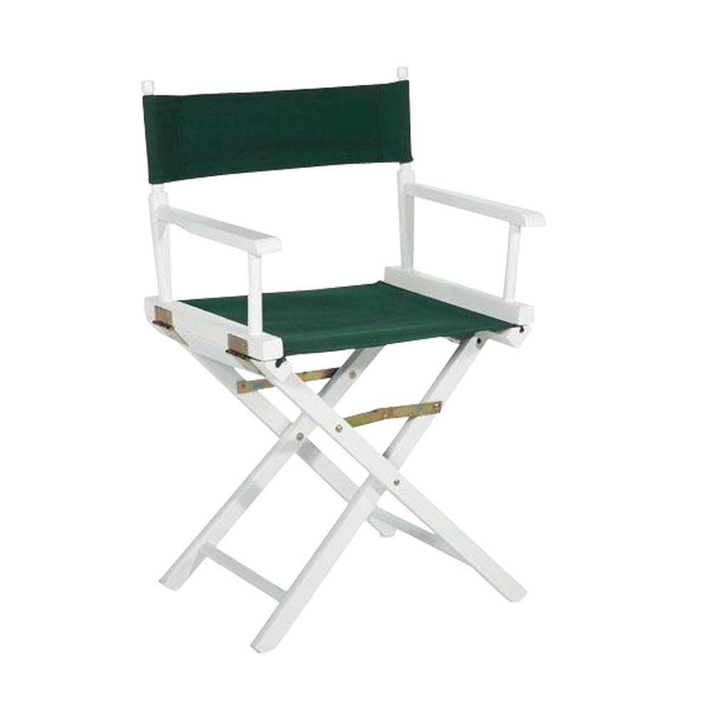 Casual Home White Wood Folding Directoru0027s Chair