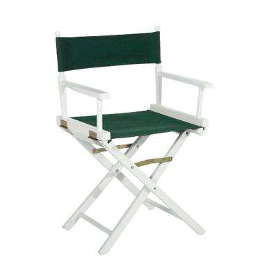 18 in. Director's Chair White Solid Wood Frame