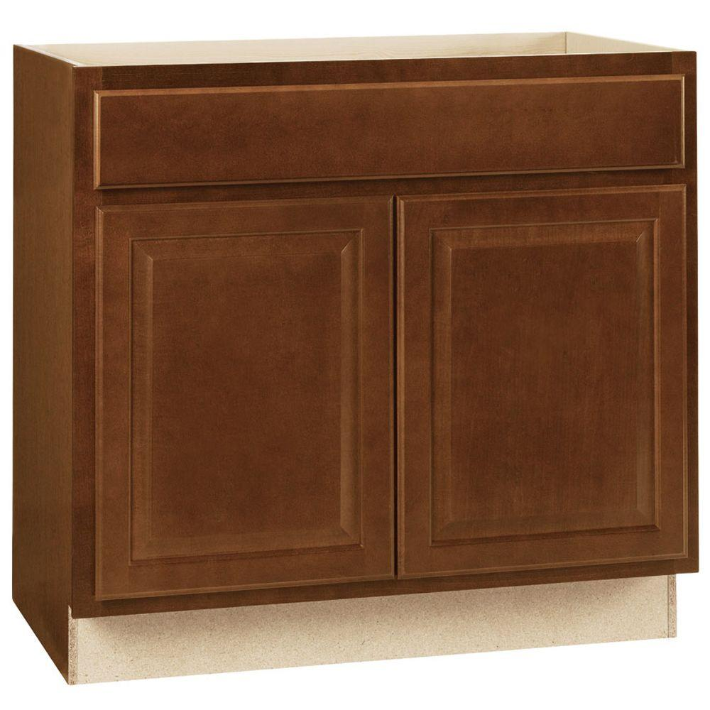 Hampton Bay Embled 36x34 5x24 In Base Kitchen Cabinet With Ball Bearing