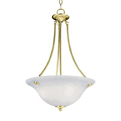 Malaga 3-Light Polished Brass Up Pendant