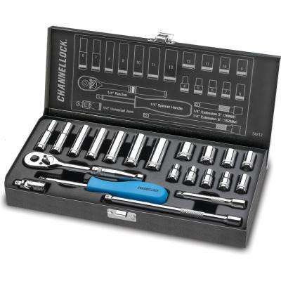 1/4 in. Drive Metric Socket Set (21-Piece)