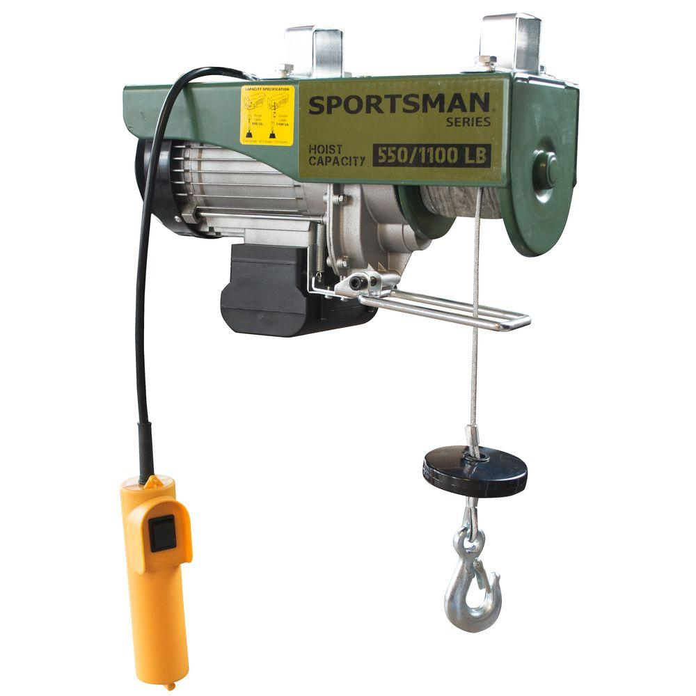 Sportsman 1 2 Ton Electric Game Hoist 801590 The Home Depot
