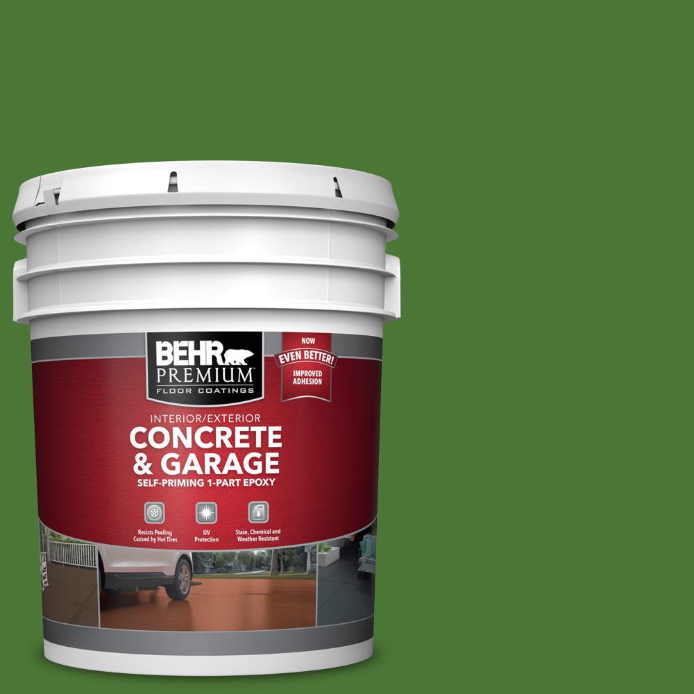 5 gal. #P380-7 Luck of the Irish Self-Priming 1-Part Epoxy Satin Interior/Exterior Concrete and Garage Floor Paint