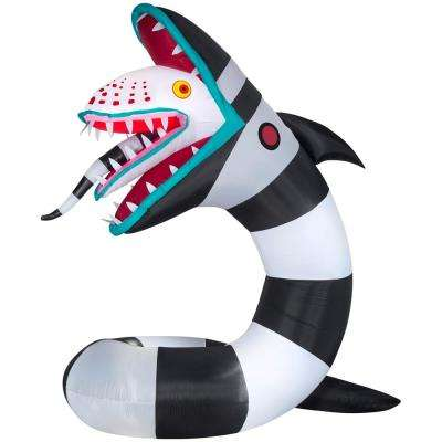 9 5 Ft Pre Lit Inflatable Animated Beetlejuice Sandworm Wb Airblown