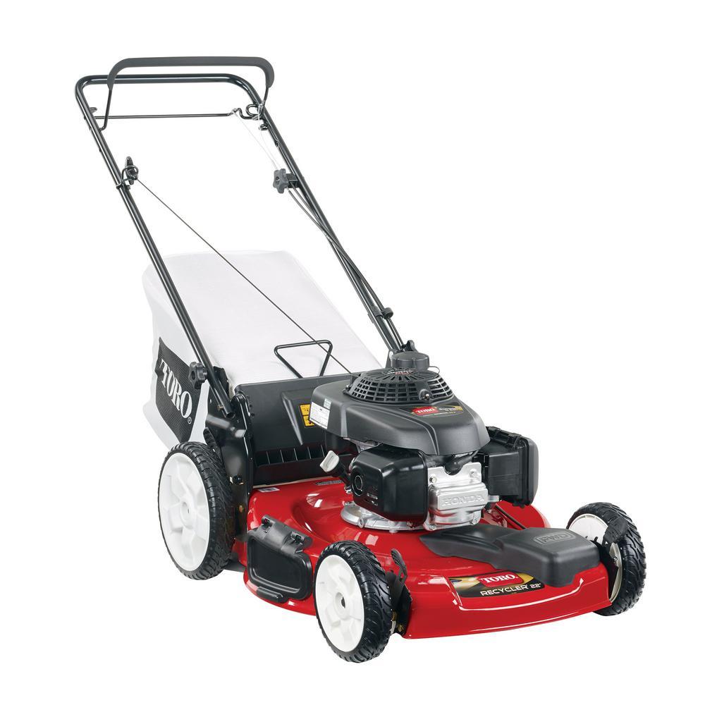 Honda High Wheel Variable Speed Gas Walk Behind Self Propelled Lawn Mower