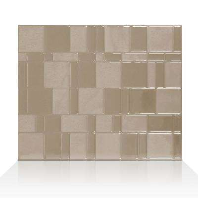 Tango Titane Silver 11.55 in. W x 9.64 in. H Peel and Stick Decorative Mosaic Wall Tile Backsplash (6-Pack)