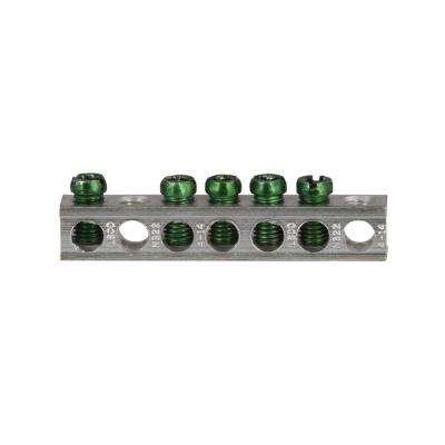 BR and CH 5 Terminal Plug-On Neutral Ground Bar