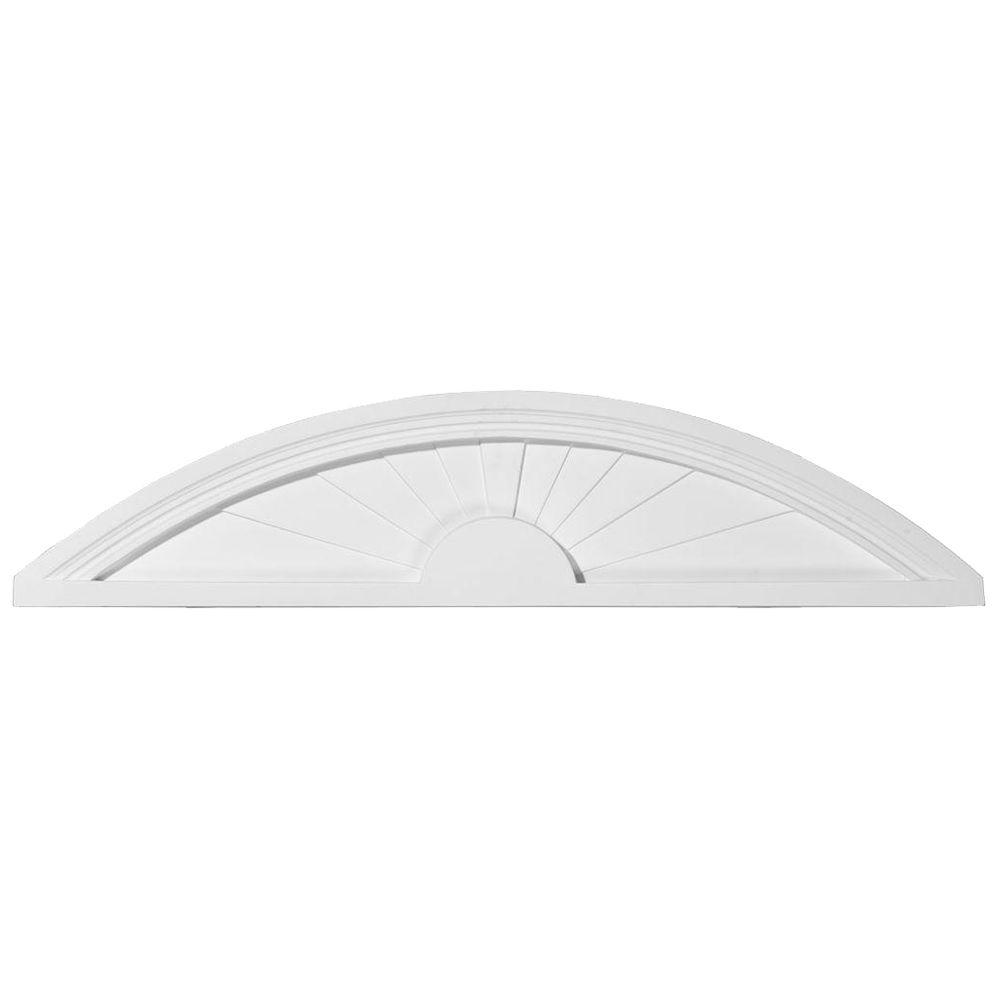 40 in. x 1-3/4 in. x 9 in. Elliptical Sunburst Pediment