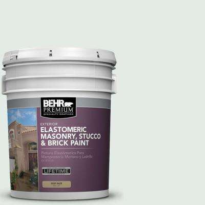 5 gal. #MS-63 White Clad Elastomeric Masonry, Stucco and Brick Exterior Paint