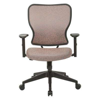 Deluxe 2 to 1 Salmon Fabric Mechanical Height Adjustable Arms Chair