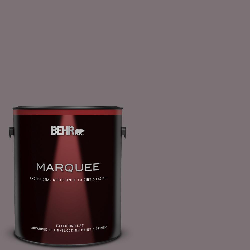 Behr Marquee 1 Gal Ppu17 18 Echo Flat Exterior Paint And Primer In One 445301 The Home Depot