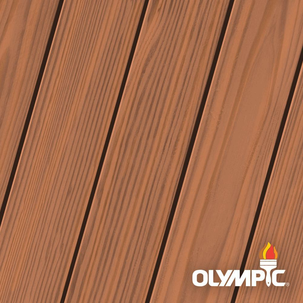 Olympic Elite 1-gal. Redwood EST704 Semi-Transparent Exterior Stain and Sealant in One Low VOC