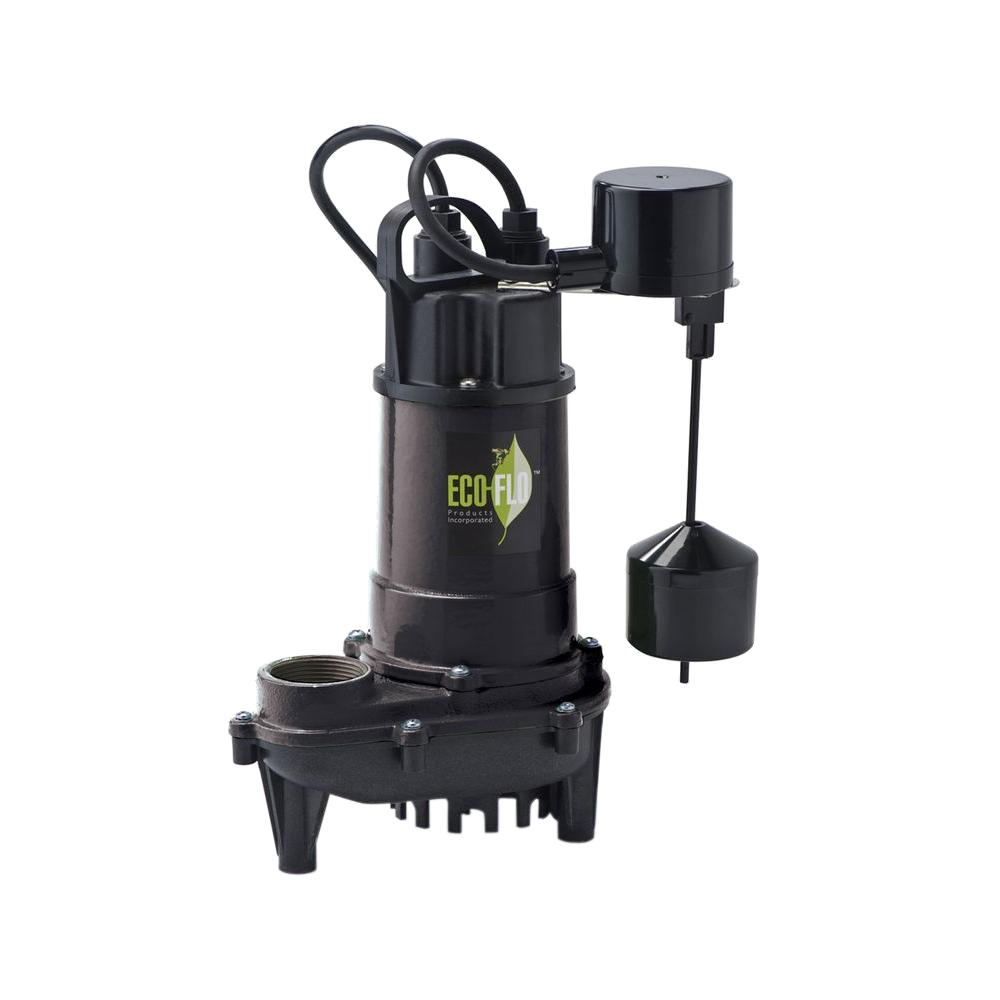 ECO FLO 1/2 HP Cast Iron Submersible Sump Pump with Vertical Switch