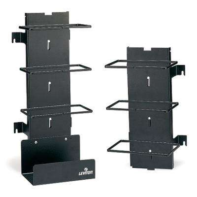 Vertical Cord Manager with Bottom Cable Tray in Black (300-Pair)