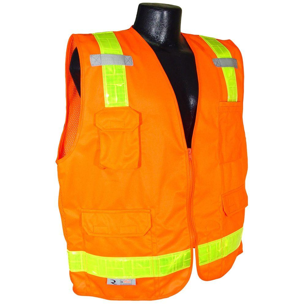 Radians Surveyor Vest with Prismatic Reflector Orange Med-DISCONTINUED