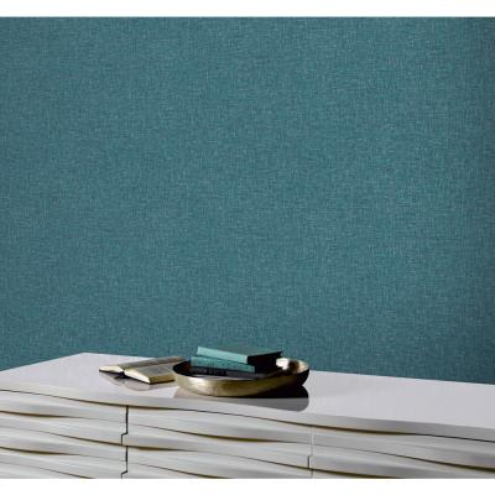 Teal Linen Textures Wallpaper