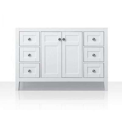 Maili 47 in. W x 21 in. D Vanity Only in White