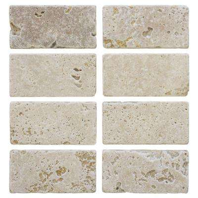 Light Travertine 3 in. x 6 in. Travertine Wall Tile (8-Pack)