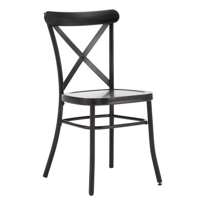 Metal Cross Back Dining Chairs Kitchen Dining Room Furniture The Home Depot