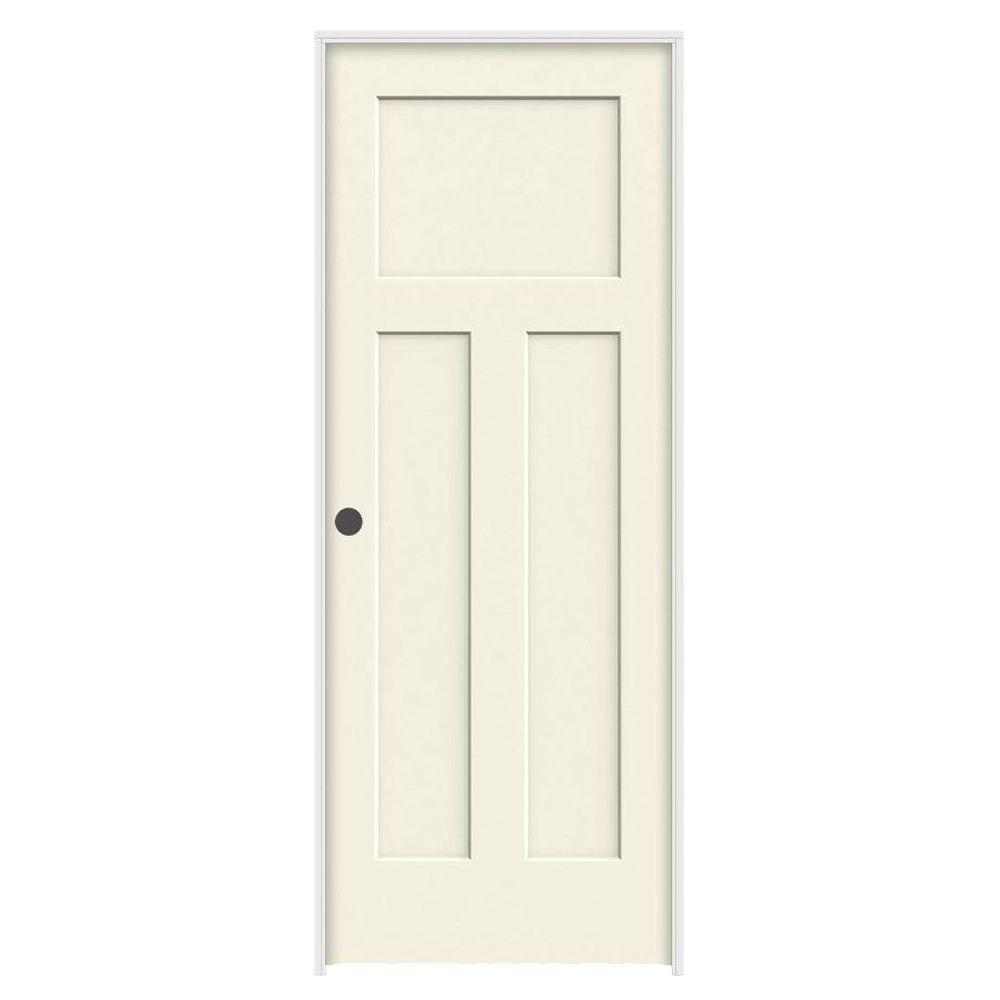 Prehung Interior Doors : Jeld wen in craftsman vanilla painted right