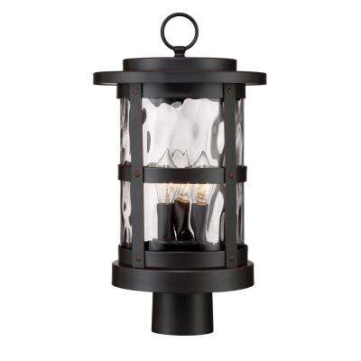 Terraza 3-Light Outdoor Satin Bronze Post Light Lantern