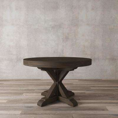 Madera 48 in. Salvaged Espresso round Dining Table