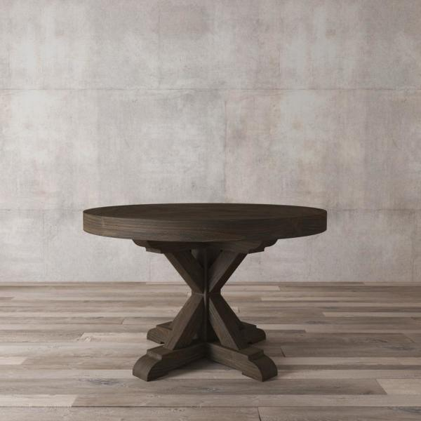 Urban Woodcraft Madera 48 in. Salvaged Espresso round Dining Table