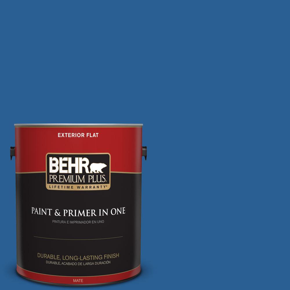 BEHR Premium Plus 1-gal. #S-G-580 Running Water Flat Exterior Paint