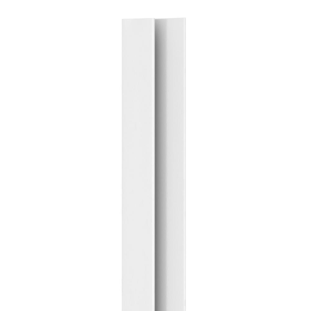 867 1/4 in. x 3/4 in. x 8 ft. PVC Composite White FRP Cap Molding